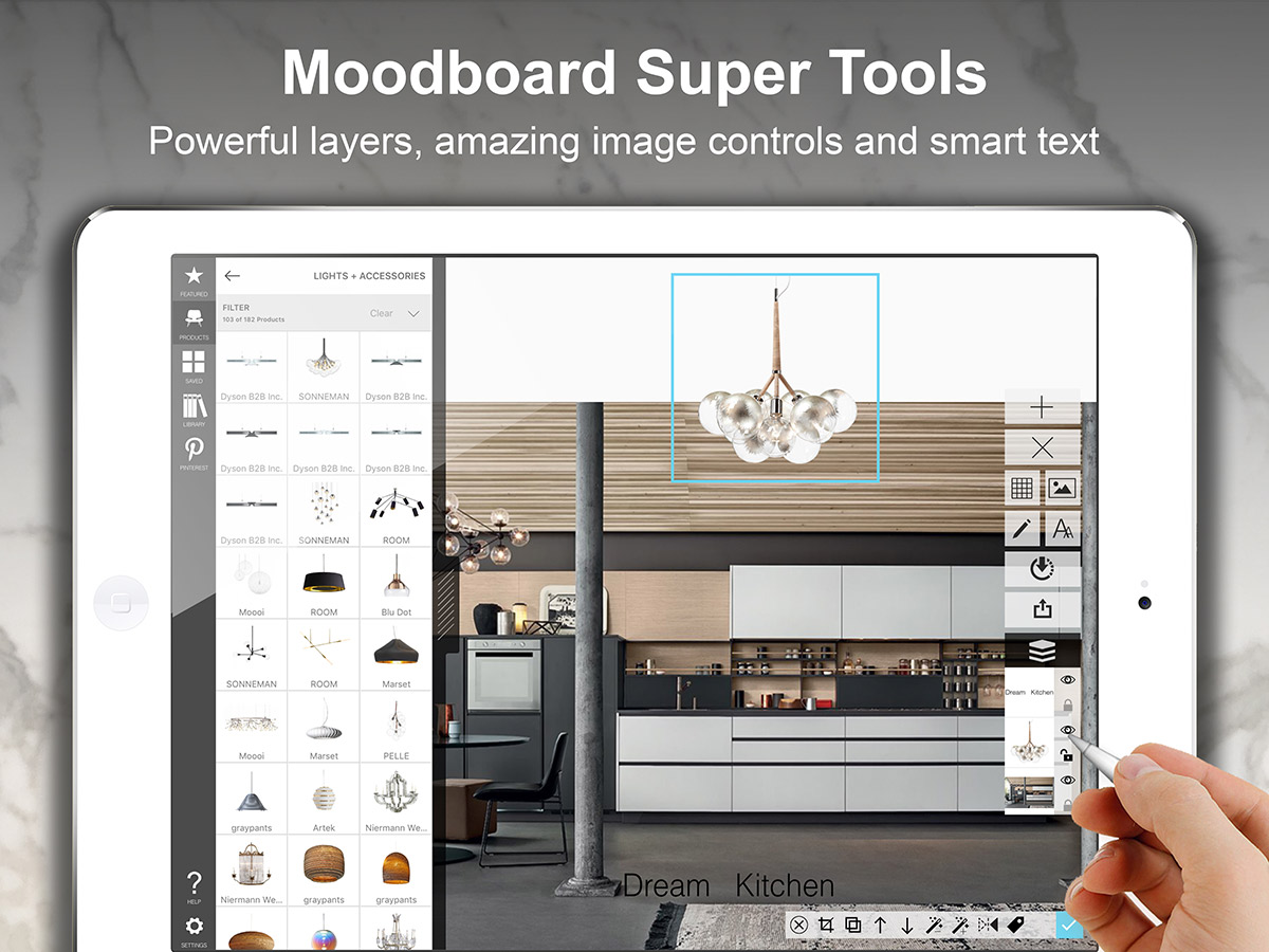 Morpholio board for Home design vision board